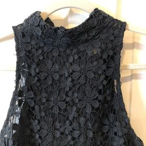 Sabo Skirt Black Crochet Lace Crop Top